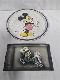 antique mickey mouse tray, horse ashtray          https://ctbids.com/#!/description/share/86504
