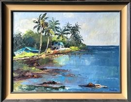Vintage Fine Art - Kersting Hawaiian Seascapes and Landscapes