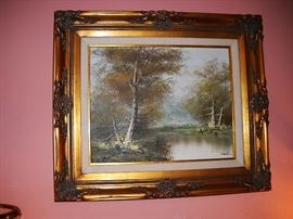 OIL AND BOARD BEAUTIFULLY FRAMED