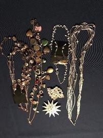 Necklaces, pins, etc.   'Artist's Jewelry'