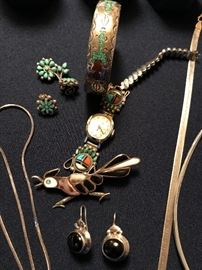 Native American sterling with stones