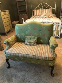 Upholstered love seat/ upholstery matches a chair