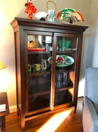 glass-front display cabinet