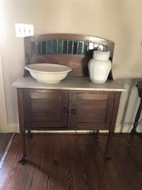 old wood wash cabinet