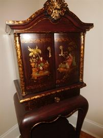 Unique Asian jewelry cabinet