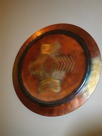Thomas Markusen hand sculptured copper wall charger