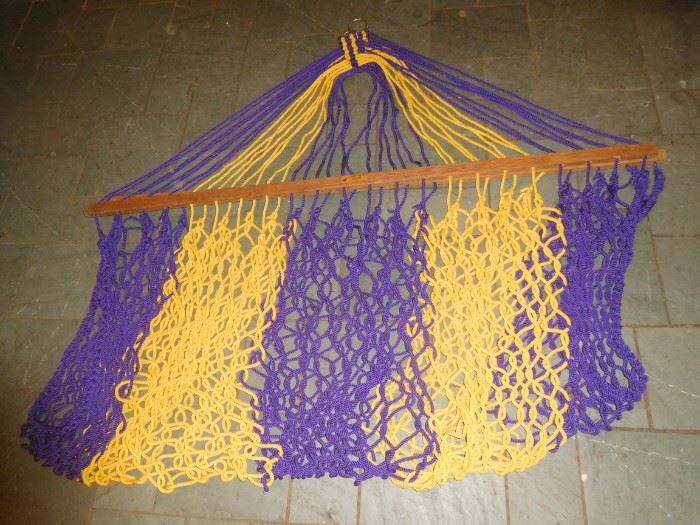 Barely used LSU hammock