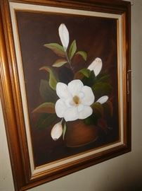 Magnolia oil painting