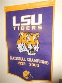 Thick felt LSU banner