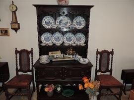 Dishes, Chairs, English Cabinet and more !