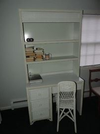 Wicker Hutch-Desk