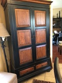 armoire, bottom drawer, power panel inside LOTS of room