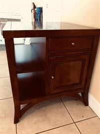 large end table drawer and cabinet