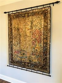 Beautiful - older painted tapestry in really good condition with new hanger