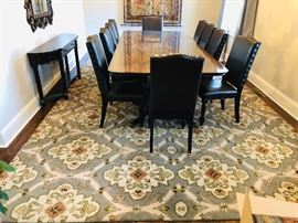 Great rugs - that's right rugs - these are two rugs being used in a large space, but they can be bought separately