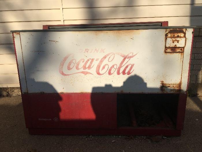 Vintage Coca Cola ice chest cooler