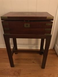 Antique Letter/ Lap Desk on custom stand