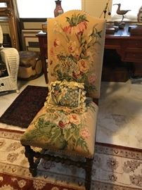 Pair of Needle point chairs