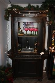 Bar cabinet with sink