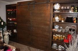 Arhaus cabinet with sliding barn doors