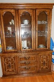 MCM MODERN CHINA HUTCH. THERE IS A MATCHING DINING ROOM TABLE & CHAIRS, SOLD SEPERATELY