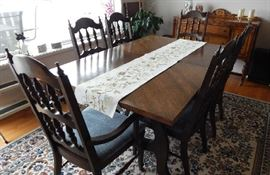 MCM DINING ROOM TABLE W/CHAIRS
