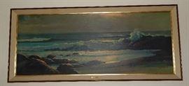 1950'S VINTAGE SEA SCAPE FRAMED PRINT