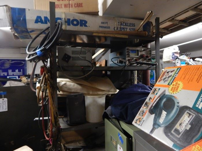"""Vintage items all thru out the garage """"man cave"""""""
