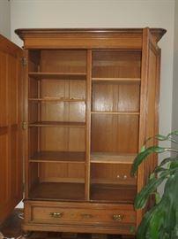 adjustable shelves.
