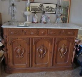 Mitchell & Rammelsberg Marble Top Sideboard