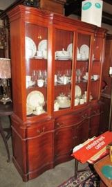 Large Mahogany China Cabinet