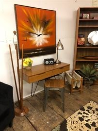 Lovely mid century floor lamp - this one needs a shade, but still pretty iconic.