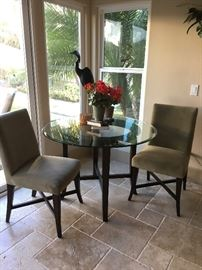 Crate & Barrel table and 2 chairs
