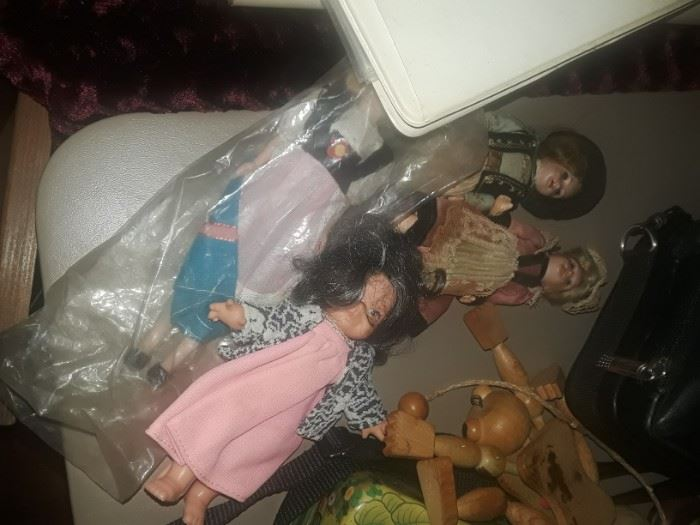 A few old dolls.