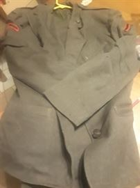 This is a ladies Marine jacket and skirt, there are also a few other Marine items.
