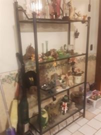 Blurry, will change. Lots of frogs, statues and misc collectibles.