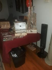 Lots of jewelry, 2 space heaters and a paper shredder.