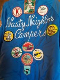 Retro jacket and patches, some items appear to be late 70's.