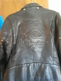 Harley Davidson Leather Jacket, believed to be late 70's.