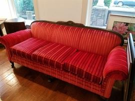 Beautiful elegant Queen Ann Vintage Red Sofa...another yummy piece.