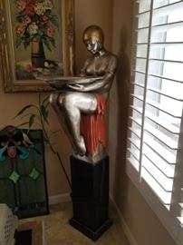 Large Chiparus style statue-very cool and over 5 ft tall. I have not seen one before.