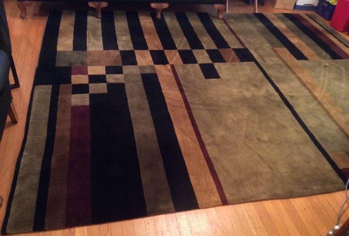 8 x 10 ft. Tibetan 100% wool rug