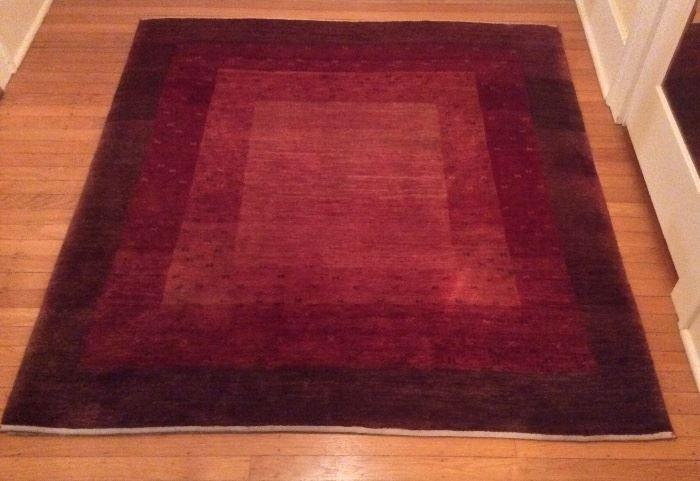 "Tibetan wool rug - 56"" x 60"". Thick & plush!"