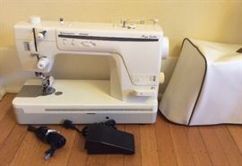 Husqvarna Viking Mega Quilter sewing machine with vinyl cover - for use with quilting frame (See next photo)