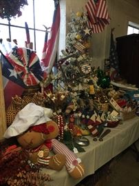 Another look at the ornament table in the Warehouse building behind the shop