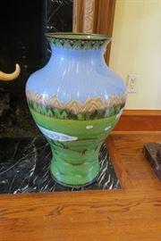 Large Cloisonné Vase