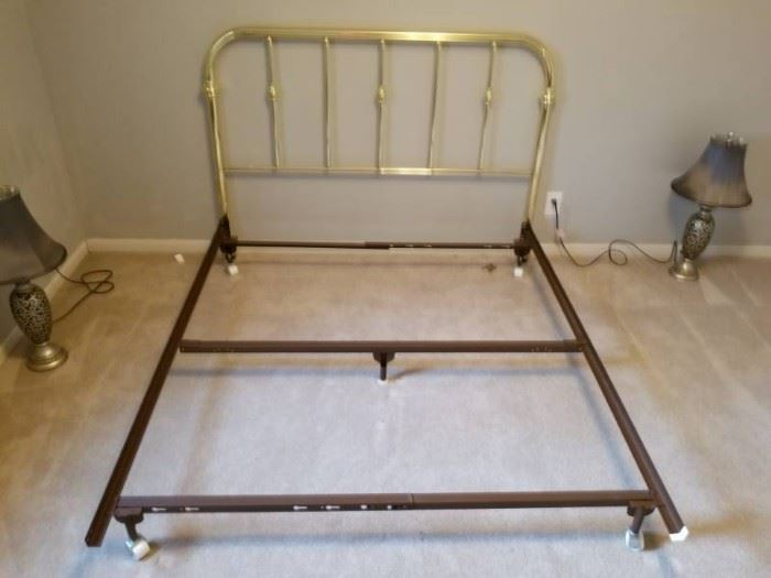 Brass Look Headboard on Hollywood Frame Rollers