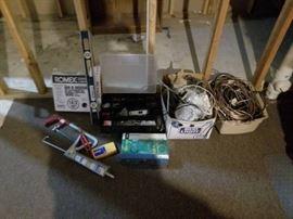 Level, Hacksaw, Stud Finder and Misc