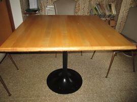 Tulip Base Maple Table