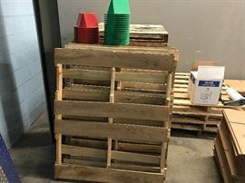Standard 48x40 pallets, inventory control cones